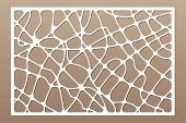 Decorative Card For Cutting. Abstract Geometric Linear Pattern. Laser Cut. Ratio 2:3. Vector Illustr poster