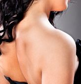 image of low-necked  - Beautiful women neck and shoulders  - JPG