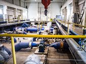 Remote Control And Engines Of Water Pumps At A Water Pumping Station. Pumping Irrigation System. Roo poster