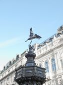 foto of ero  - Piccadilly Circus with statue of Anteros aka Eros in London - JPG