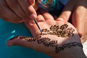 Traditionele Henna Hand kunst