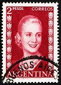 Selo postal Argentina 1953 Eva Perón, Evita