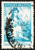 Postage stamp Argentina 1946 Liberty and Presidential Oath
