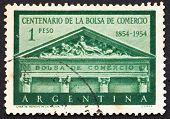 Postage stamp Argentina 1954 Buenos Aires Stock Exchange