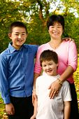 Thai Mom With Her Two Beautiful Sons From Intermarriage