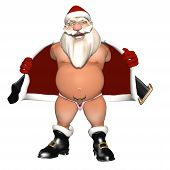 Santa Flashing In A Reindeer Thong