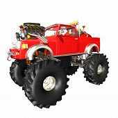 pic of monster-truck  - Santa Monster Truck - JPG