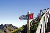 partida para caminhadas da Madeira
