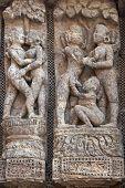 Erotic Carvings At Konark Temple