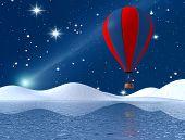 Fantasy Winter Hot-Air Balloon