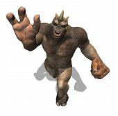 stock photo of behemoth  - A powerful troll attacks as seen from above  - JPG