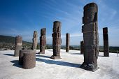 Toltec Warriors. Ancient Ruins Of Tula De Allende