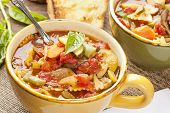 Hot Homemade Minestrone Soup