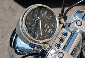 Speedometer From A Motorcycle.