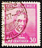 Postage stamp Chile 1934 Jose Joaquin Perez Mascayano, President