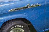 1958 Chevy Apache quarto painel Close-Up