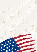 Grunge Usa Background, Vector Illustration