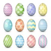 Easter Eggs Set. Colorful Vector Illustration. Eps 10
