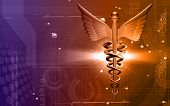 picture of sceptre  - Digital illustration of a medical logo in brown colour - JPG