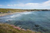Whitesands Bay St Brides Bay Wales UK Pembrokeshire Coast
