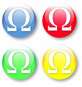 Ohm Omega Vector Icon Set