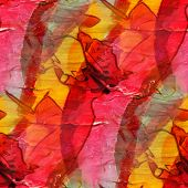 background watercolor art red yellow seamless texture abstract b