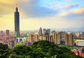 Taipei, Taiwan skyline.