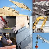Collage of the construction industry