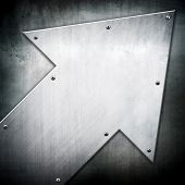 arrow pattern on metal plate