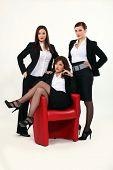 Trio of sexy businesswomen