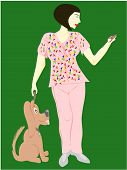 woman veterinarian technician