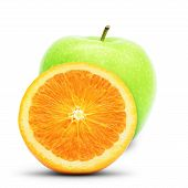 Green Apple And Orange