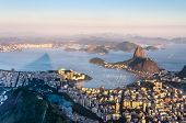 Sugarloaf, Botafogo Beach And Guanabara Bay At Sunset