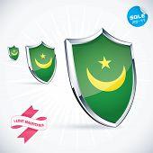 I Love Mauritania Flag Illustration