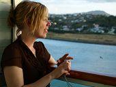 Female On Cruise Ship