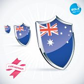 I Love Australia Flag Illustration