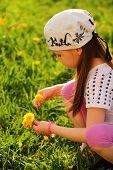 Child Enjoying Spring Sunny Day