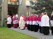 PIEKARY SLASKIE, POLAND - MAY 26: Cardinal Dominik Duka primate of the Czech Republic, Cardinal Stan