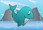 Cute Purple Whale
