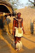 Zulu warrior in Shakaland Zulu Village, South Africa