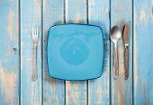 Blue Empty Plates