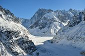 The Mer De Glace, Sea Of Ice In Chamonix, France