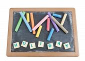 School Board To Chalk Colored Chalk And The Written Word Holiday.
