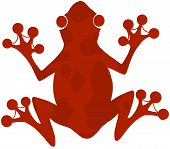 Red Spotted Frog Silhouette Logo