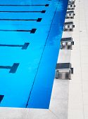 Starting platforms in the pool
