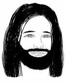 Jesus - Line Art