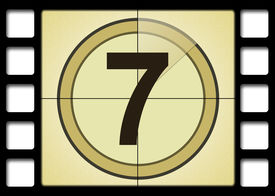 picture of number 7  - film countdown - JPG