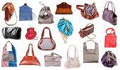 Collection Of Ladies Handbags
