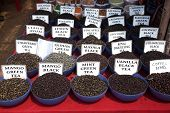 picture of flea  - Indian tea and spices at Anjuna flea market in Goa India - JPG