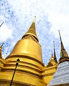 stock photo of tantric  - A golden pagoda Grand Palace in Bangkok ,Thailand